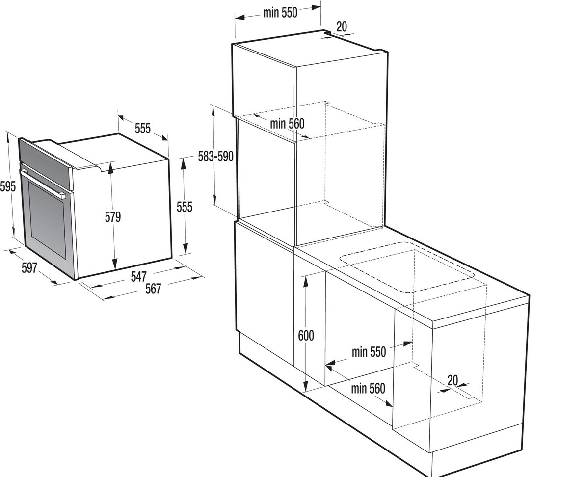 gorenje bo 615e10 mg. Black Bedroom Furniture Sets. Home Design Ideas