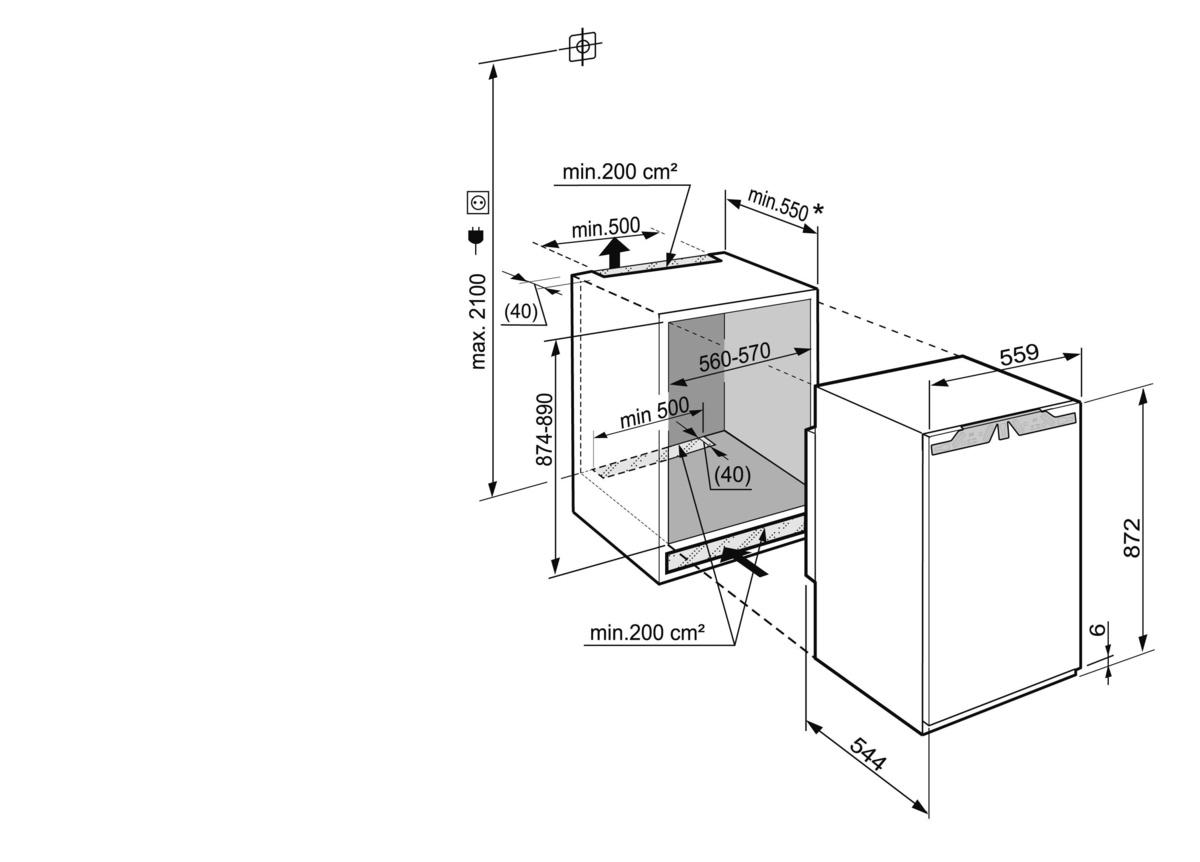 монтаж встроенного холодильника либхер инструкция
