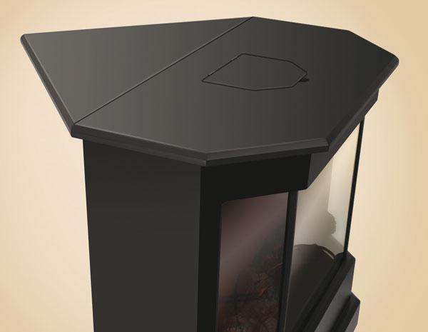 Электрический камин electrolux efp c 1000rc elegance black электрокамин
