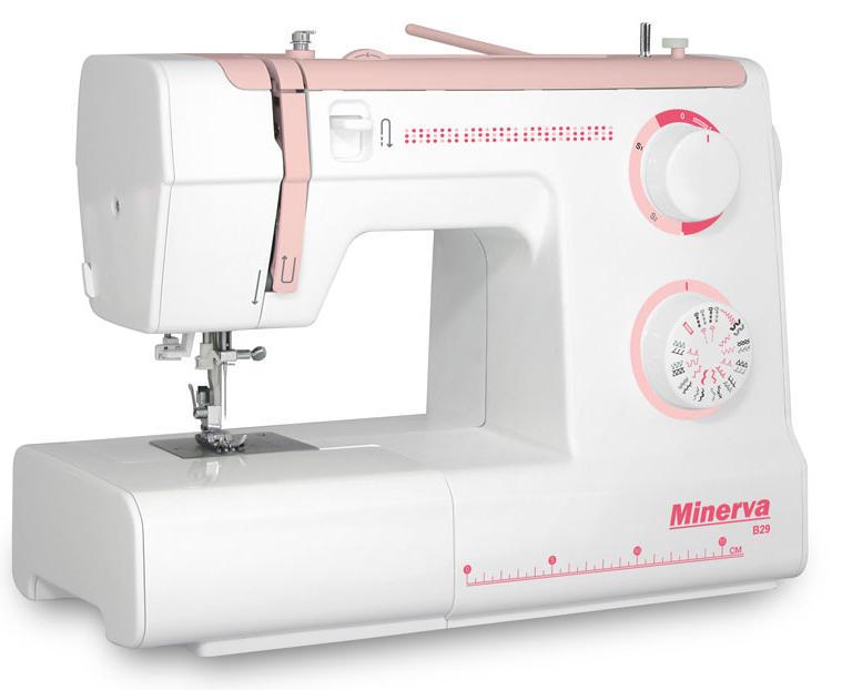 Многофункциональная электромеханическая швейная машина новой серии MINERVA B29 с заправщиком нити и усиленным нижним транспортером ткани