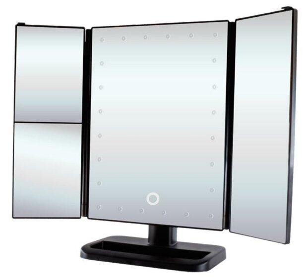 Gess uLike - настоящая мини-студия для макияжа – настольное складное трехстворчатое зеркало с подсветкой.